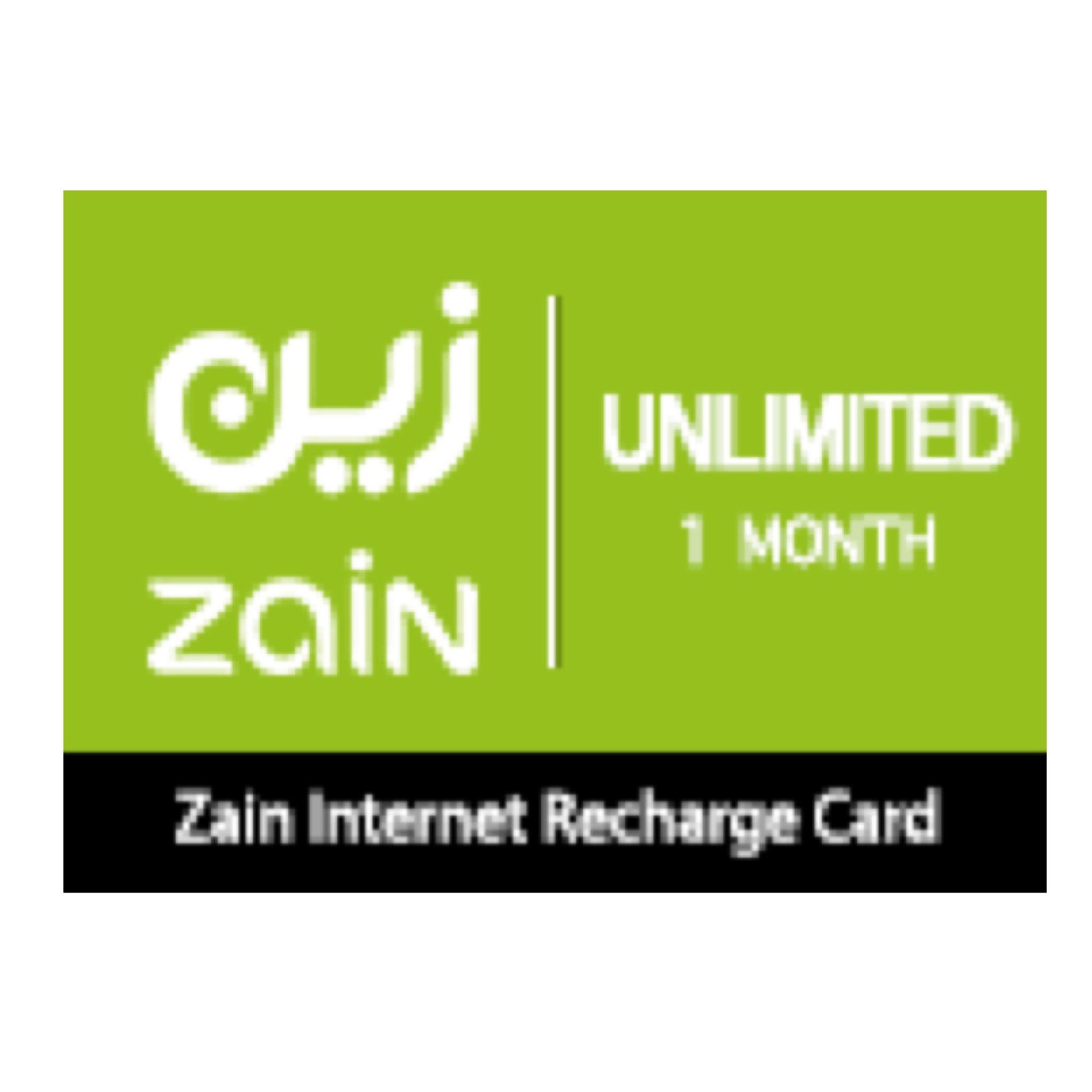 بطاقة زين مسبقة الدفع لشحن الانترنت مفتوح -لمدةً شهر | فور جي للاتصالات