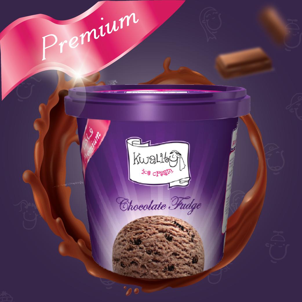 آيس كريم حلوى الشوكولاتة الفاخر 12 حبة Premium Chocolate Fudge 12pc