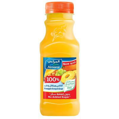 المراعي عصير البرتقال والاناناس والعنب بدون اضافة سكر صغير 300مل 6281007055352