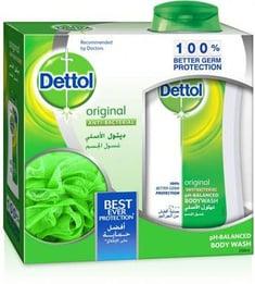 ديتول جل استحمام الأصلي + ليفة مجانا 250مل