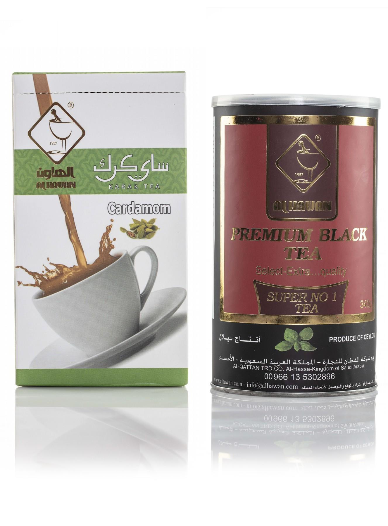 عرض شاي كرك بالهيل + شاي أسود سيلاني   متجر الهاون