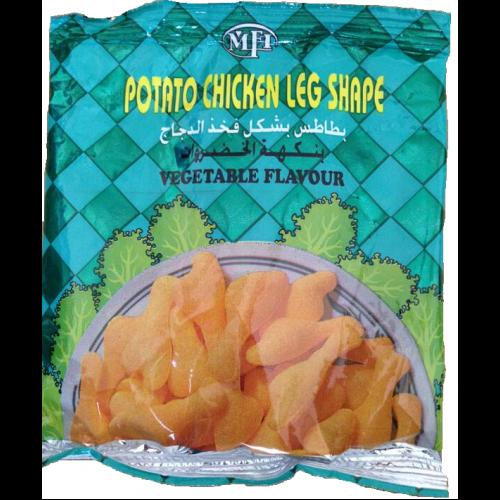 شيبس بطاطس بشكل فخذ الدجاج بنكهة الخضراوات 20 كيس حجم 15غرام 6084001002519