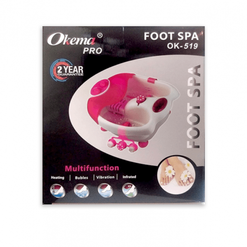 جهاز مساج القدم متعدد الوظائف من اوكيما - وردي - OK519